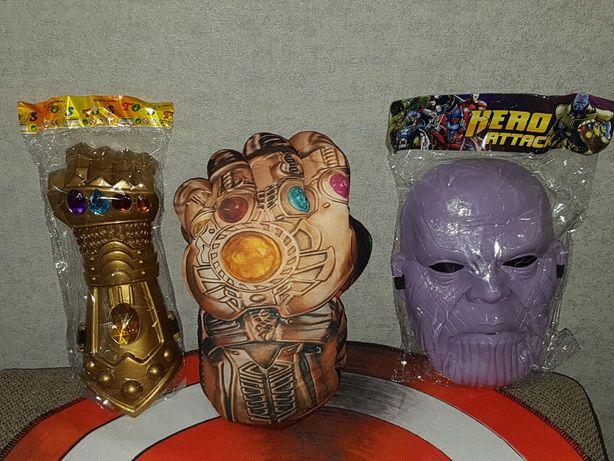Перчатка/рука/Танос,Марвел,Marvel,26см. Маска Таноса, мягкая перчатка