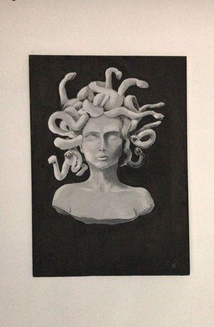 Pintura em tela medusa 60x45