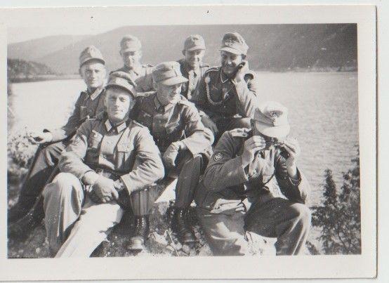 Stare zdjęcia Wehrmacht strzelcy górscy