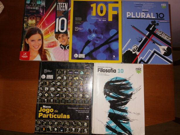 Livros 10° ano de Física, Química, Filosofia ,Inglês e Português