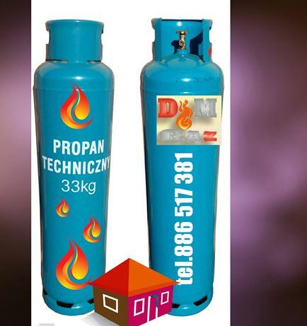 Wymiana Butle gazowe 33 do ogrzewania butla gazowa propan dostawa gazu