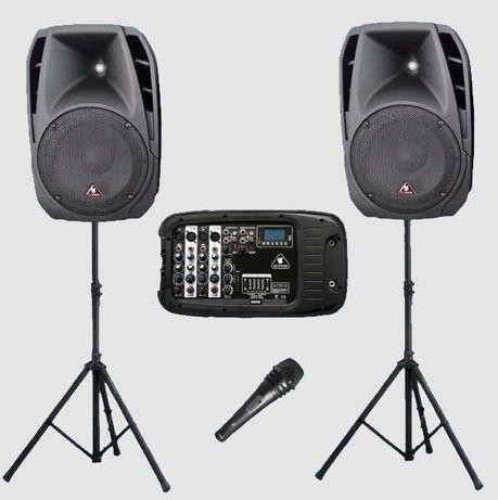 Zestaw nagłośnieniowy IgoSystem statyw mikrofon MP3 USB SD wysyłka