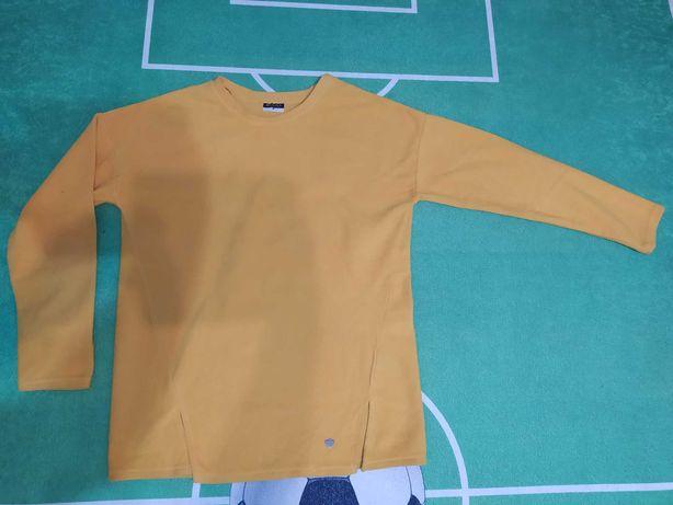 Żółty polar bluza M/L
