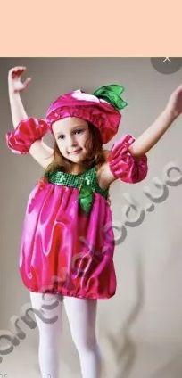 Новогодний костюм малинка, клубничка, рост 104
