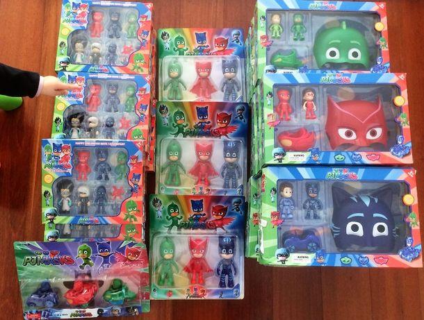 Packs dos pj masks cat boy corujinha e gekko varios modelos novos