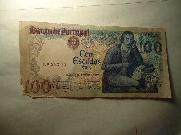 """Nota 100 Escudos """"Rara"""" Capicua 22722"""