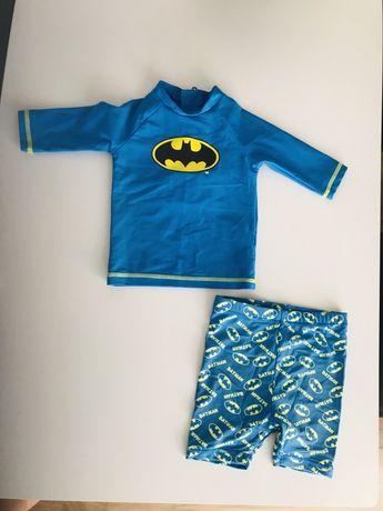 Zestaw na plaże strój kąpielowy Batman