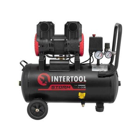 Компрессор 24 л, 200 л/мин, безмасляный, 2 цилиндра INTERTOOL PT-0029