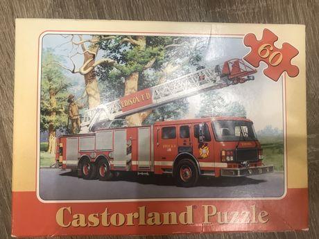 Пазлы Castorland, Пожарная машина, 60 шт., полный набор