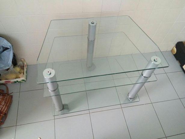 Mesa/movel de vidro trabalhado