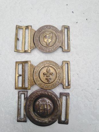 Stare klamry harcerskie skauta ZHP