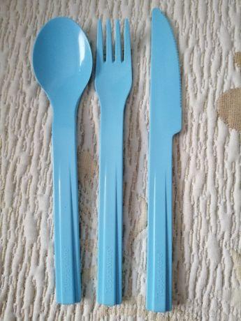 Sztućce zestaw łyżka nóż widelec piknik z kolekcji Tupperware - NOWE