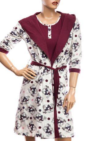 Домашняя одежда. Халатик+ночная рубашка. р-р 44