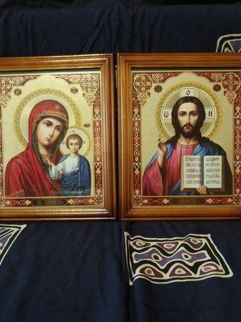 Продам пару Икон Казанская Богоматерь и Иисус Христос