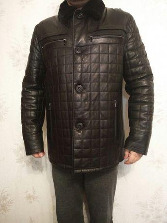 Шикарная кожаная куртка Maximilyano (мужская, зимняя)