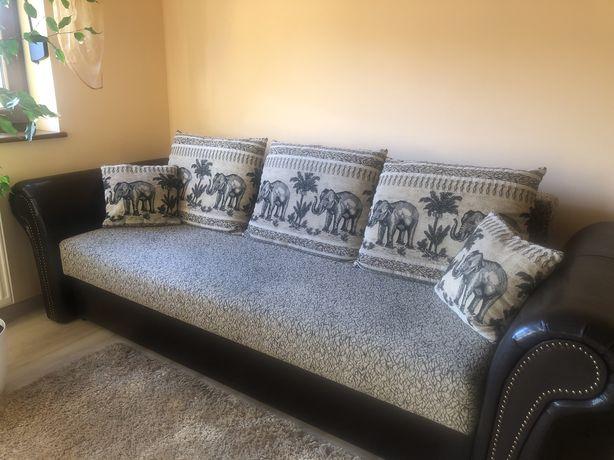 Sprzedam kanape + 2 fotele + 2 pufy