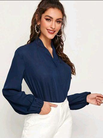 Camisa azul senhora