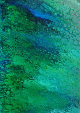 Картина абстракция Флюид арт