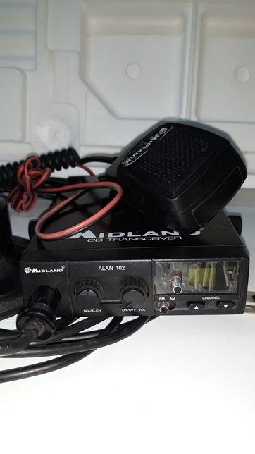 CB radio Midland Alan 102 + antena Wilson Little Wil
