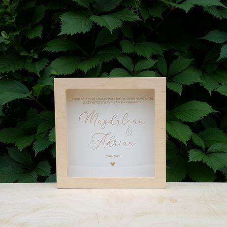 Skarbonka na ślub, personalizowany prezent dla Pary Młodej, wesele