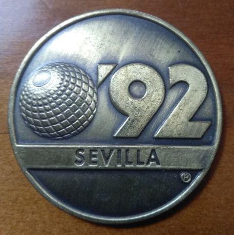Medalha da Expo 92 realizada em Sevilha