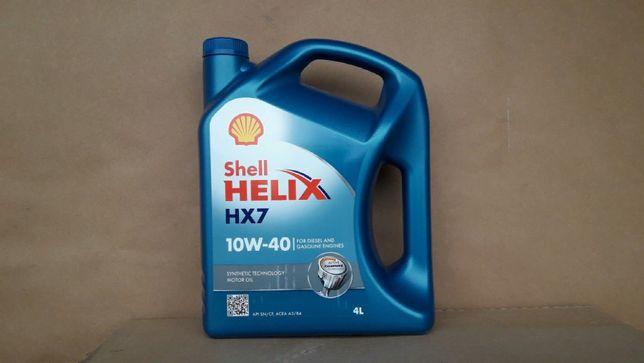 Масло моторное полусинтетическое Shell Шелл Helix HX7 10w-40 (4 литра)