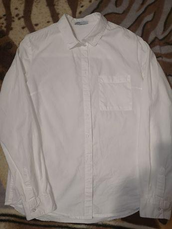 Біла однотонна рубашка CROPP