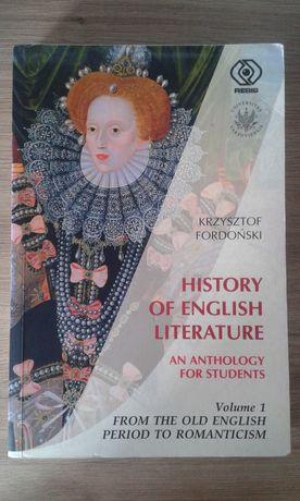 History of English Literature Krzysztof Fordoński wydawnictwo REBIS