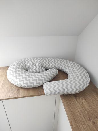 Poduszka rogal do karmienia C, do spania w ciąży + poduszka chmurka