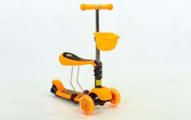 Самокат Micro Mini с сиденьем 3 в 1 C-0332 Orange