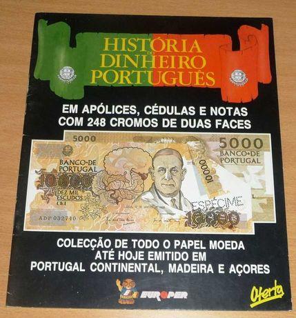 Caderneta Completa História do Dinheiro Português, da EUROPER