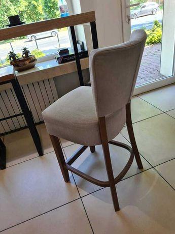 hoker krzesło  szary