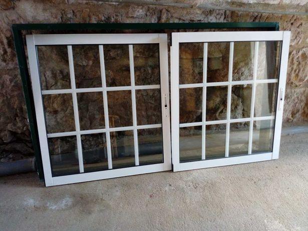 Portas e janelas alumínio-vidro duplo.