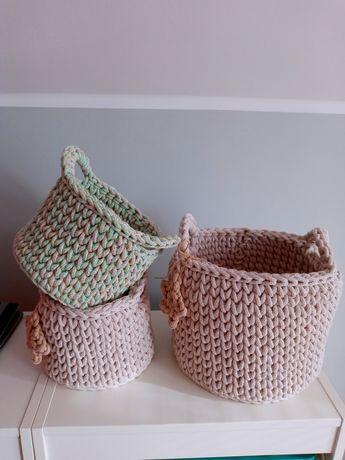 Koszyk ze sznurka bawełnianego
