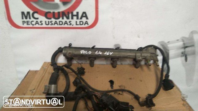 Régua injeçao com injetores e cablagem - VW polo Seat 1.4 16V AFH - 036133319A