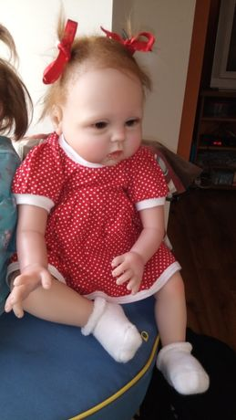 Okazja ! Duża śliczna lalka reborn 52 cm.