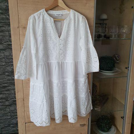 Nowa biała sukienka haftowana M