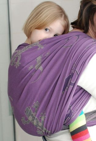 Didymos оригинал. Geckos mauvein 6. Слинг шарф.