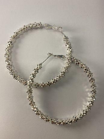 Серебрянные серьги-кольца