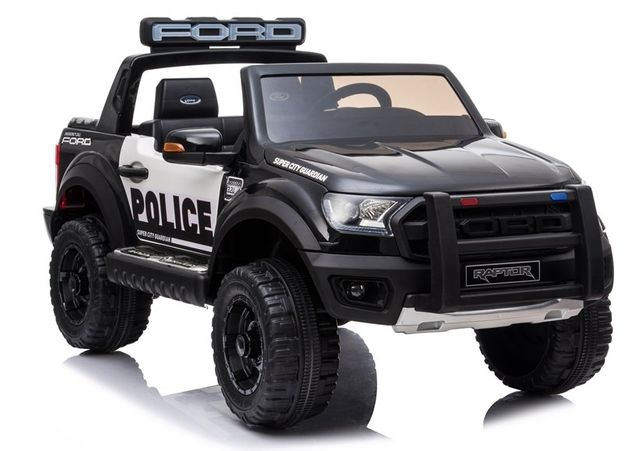FORD RAPTOR POLICJA DWUOSOBOWY samochód auto na akumulator Eva Skóra