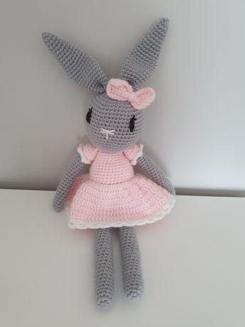 Śliczna maskotka króliczek handmade 42cm