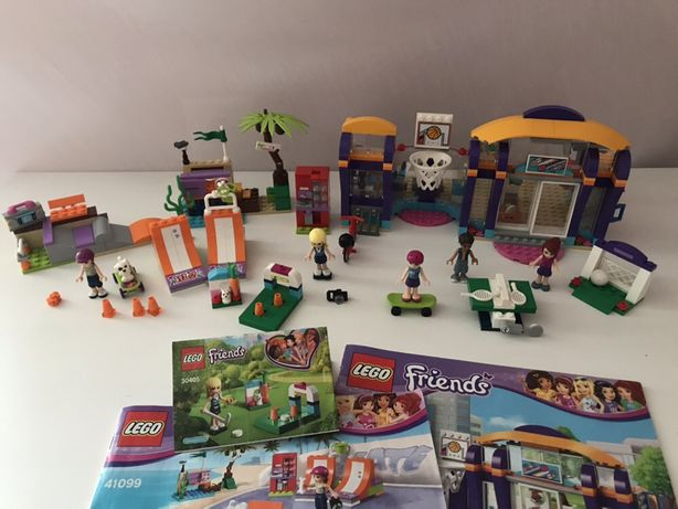 Lego friends centrum sportu 41312, skate park 41099 i inne