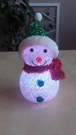 bałwanek, lampka led, Boże Narodzenie