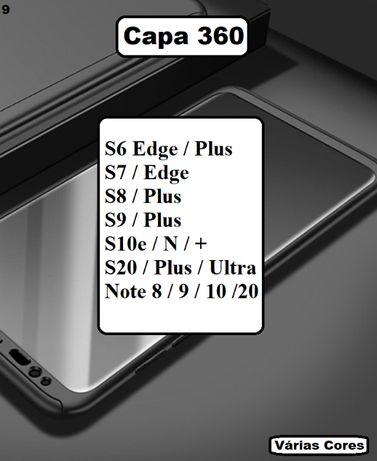 Capa 360 Samsung S6 - S7 - S8 - S9 - S10 - S20 - Note 8 / 9 / 10 / 20