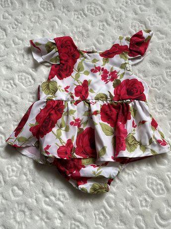 Платье-бодик, 6-9 месяцев