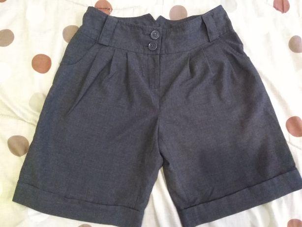 Шорты-юбка школьные для девочки, рост 128 см.