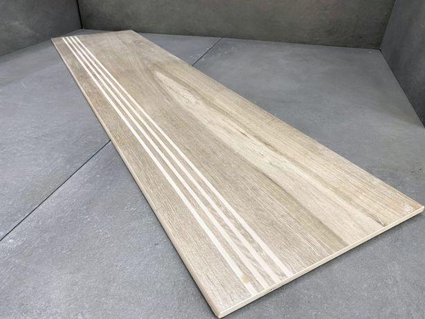 Schody z płytek jak z drewna, stopnice 100x30 DESKA z ryflem