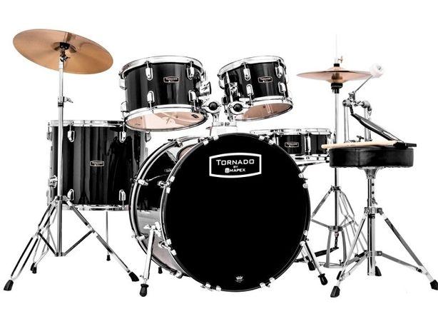 MAPEX Tornado perkusja + talerze+stołek TND5294FTC zestaw perkusyjny