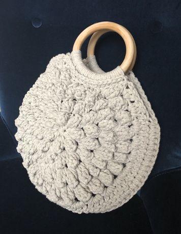 Torebka ze sznurka bawełnianego Recznie dziergana (Handmade)