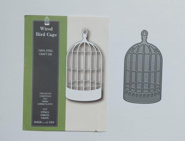 Wykrojnik poppystamps, nowy, klatka, wired bird cage